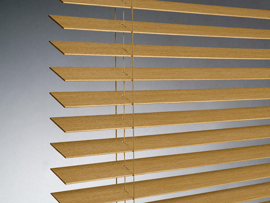 Wood Horizontal Blinds In Different Paint Colors Or