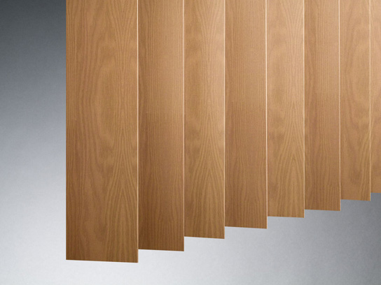 Wood Vertical Blinds In Many Types Of Wood Painted Or Stained